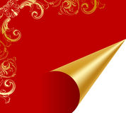 Turn over luxury golden paper Royalty Free Stock Images