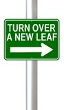 Turn Over A New Leaf Stock Photo