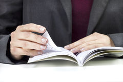 Turn the page Royalty Free Stock Photography