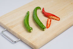 Turn peppers on the chopping block Stock Image
