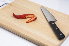 Turn peppers on the chopping block Stock Images
