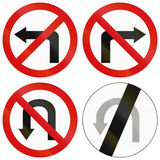 Turn Prohibitions In Poland Royalty Free Stock Photography