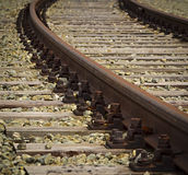 Turn rail track Stock Images