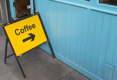 Turn Right for Coffee Royalty Free Stock Image