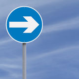 Turn Right Royalty Free Stock Photos