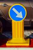Turn right - road sign Stock Photo