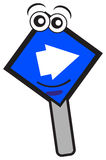 Turn right sign. Illustration of turn right traffic sign created by vector Stock Images