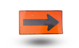 Turn right sign. Isolated on white background stock photos