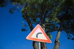 Turn right sign. Pesaro, Italy royalty free stock photo