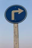Turn right, Signs Stock Photography