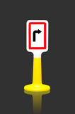 Turn right traffic sign Stock Image