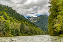 The turn of the river Dunajec royalty free stock photos