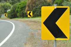 Turn road sign Stock Images