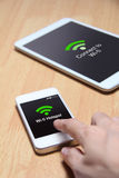 Turn and share your smartphone into a Wi-Fi hotspot Stock Photo