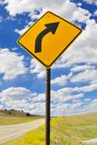Turn sign Royalty Free Stock Images