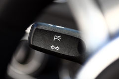 Turn signal button Royalty Free Stock Photo