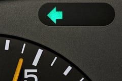 Turn signal control light. In car dashboard Stock Image