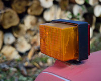Turn Signal Indicator on Logging Truck Royalty Free Stock Image