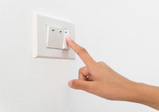 Turn switch on Royalty Free Stock Image