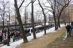 Turn to the farewell ceremony with politicians Boris Nemtsov Royalty Free Stock Photo