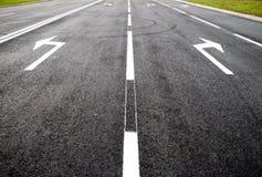 Turn to new life  - street, road, arrow direction Royalty Free Stock Photos