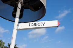 Turn to the toilet Royalty Free Stock Photo