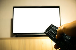 Turn on, turn off television Stock Photography