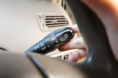 turn on the turn signal Royalty Free Stock Photo