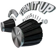 Turn It Up - Dial Knob Turning Up Volume Royalty Free Stock Photo