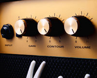 Turn it up to 11. A guitar amplifier turned up to eleven for maximum volume royalty free stock photos