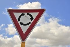Turnabout road sign Stock Image