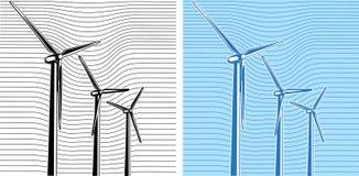 turnbines风 向量例证