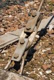 Turnbuckle i Elektryczna izolacja - kolej Fotografia Royalty Free
