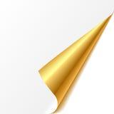 Turned corner. Gold. vector illustration