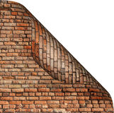 Turned corner of page. With the image of brick wall royalty free illustration