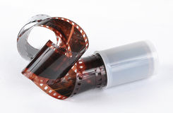 Turned out film and case Royalty Free Stock Photo