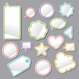 Turned up stickers Royalty Free Stock Photography