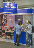 Turner Broadcasting company booth Stock Photo