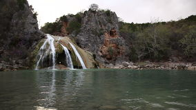 Turner Falls Waterfall in the Arbuckle Mountains of Oklahoma stock video