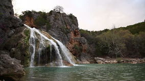 Turner Falls Waterfall in the Arbuckle Mountains of Oklahoma stock footage