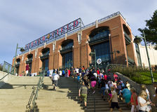 Turner field. ATLANTA - JULY 12: Turner Field, home of the Atlanta Braves, pictured on July 12, 2013. Originally built as Centennial Olympic Stadium for the 1996 Royalty Free Stock Photo
