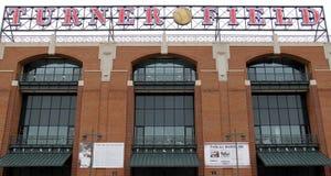 Turner Field baseball sign Royalty Free Stock Photography