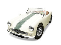 Turner MK2 Classic sports car. A rare vintage Turner mark 2 classic open top sports car with hood down, alloy wheels and black stripe down center of the bonnet Stock Photo