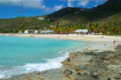 Turner's beach, Antigua, Caribbean. Panorama of Turner's beach in Antigua, Caribbean Stock Images