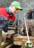 Turner works for lathe Royalty Free Stock Images