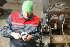 Turner works for lathe Stock Photography