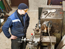 Turner works for lathe Royalty Free Stock Photo