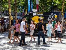 Turnera av Frankrike den Official mobilen shoppar Royaltyfri Fotografi