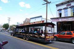 Turnera bussen Arkivbild