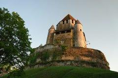 Turnera César av medeltida Provins i Frankrike arkivbild